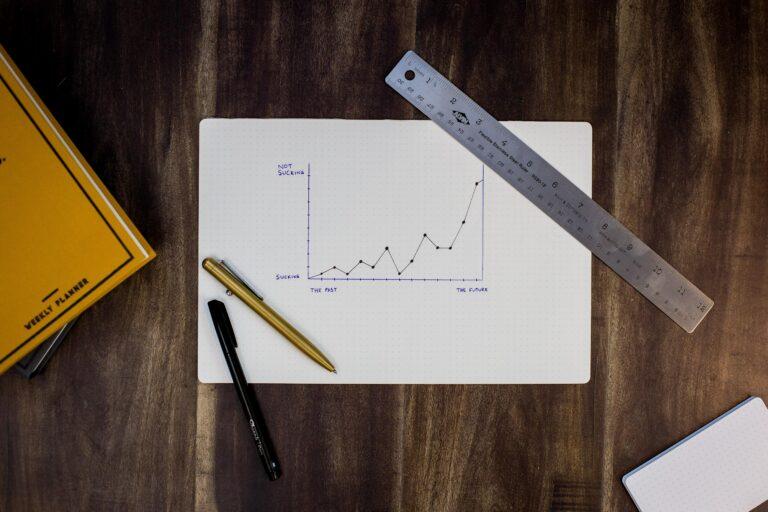 Aktien Chart auf Papier