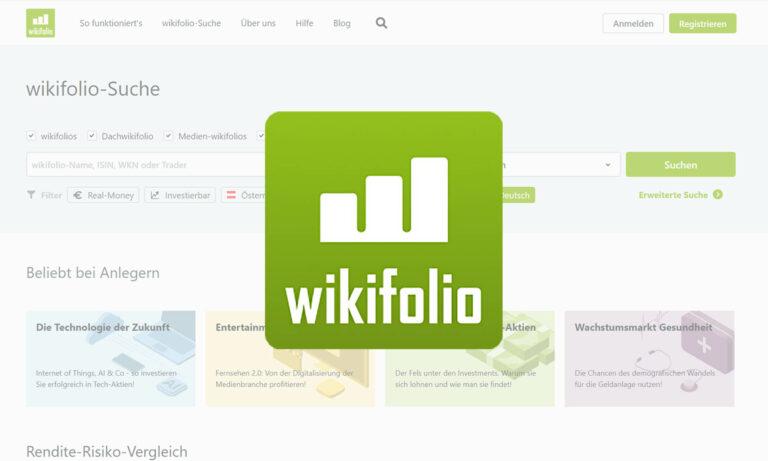 Wikifolio Website und Logo